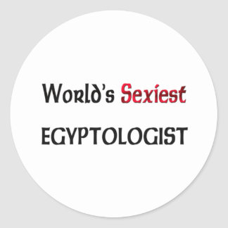 Egyptologist le plus sexy du monde autocollant rond