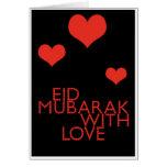 eid Mubarak avec amour Carte De Vœux