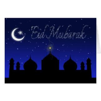 Eid Mubarak - carte de voeux islamique