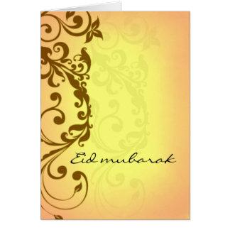 Eid Mubarak - carte de voeux jaune