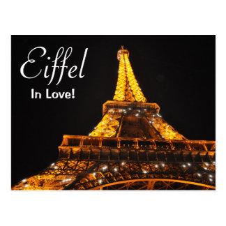 Eiffel en carte postale d'amour
