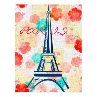 Eiffel vintage Tour-Paris Carte Postale