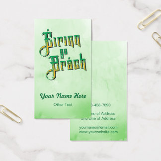 Éirinn vont Temp de carte de visite de Brách