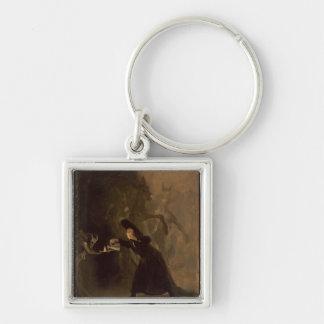EL Hechizado de Francisco Jose de Goya y Lucientes Porte-clé Carré Argenté