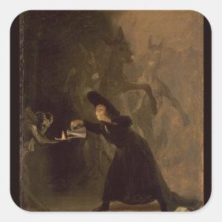 EL Hechizado de Francisco Jose de Goya y Lucientes Sticker Carré