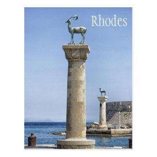 Elafos et Elafina, entrée vers Rhodes, Grèce Carte Postale
