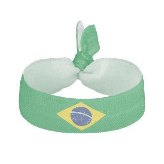 Élastique à cheveux de drapeau du Brésil