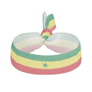 Élastique à cheveux de drapeau du Sénégal