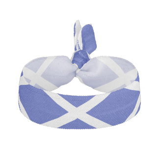 Élastique à cheveux écossais de drapeau