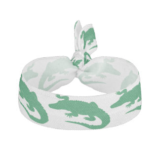 Élastique Pour Cheveux Animaux verts d'alligator de crocodile mignons