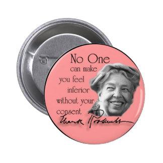 Eleanor Roosevelt - première Madame du monde Badge Rond 5 Cm