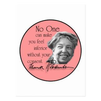 Eleanor Roosevelt - première Madame du monde Cartes Postales