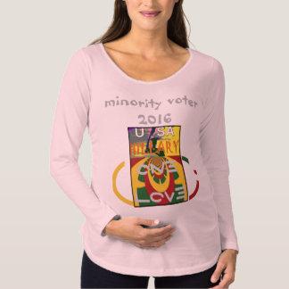 Électeurs de minorité Hillary 2016 Etats-Unis plus T-Shirt De Maternité