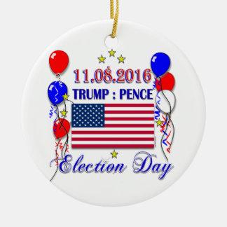 Élection 2016 de penny d'atout ornement rond en céramique