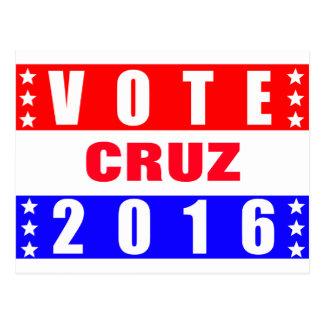 Élection présidentielle de Cruz 2016 de vote Carte Postale