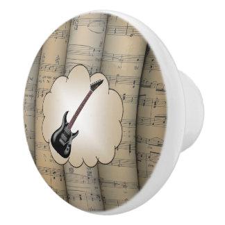 ~ électr. d'arrière - plan roulé par Guitar~Cloud~ Bouton De Porte En Céramique