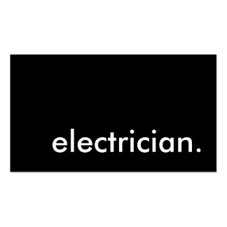 électricien carte de visite standard