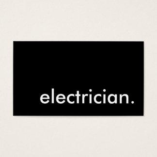 électricien cartes de visite