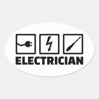 Électricien Sticker Ovale