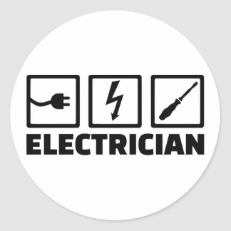 Électricien Sticker Rond