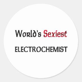 Electrochemist le plus sexy du monde autocollants ronds