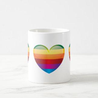 ElectroSky - coeur multicolore Mug