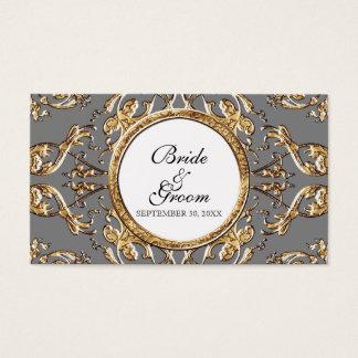 Élégance 2 de cravate noire - étiquettes de cadeau cartes de visite