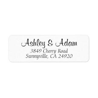 Élégance cursive - étiquettes de adresse de retour