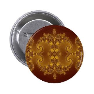 Élégance de fractale badge rond 5 cm