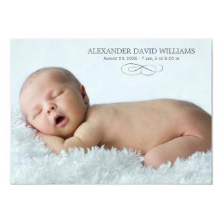 Élégance simple du faire-part de naissance | de carton d'invitation  11,43 cm x 15,87 cm