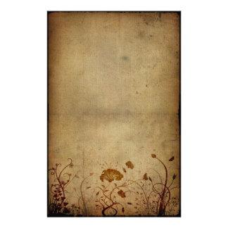 Élégance vintage florale motifs pour papier à lettre