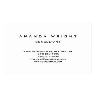 Élégant attrayant blanc simple simple créatif carte de visite standard