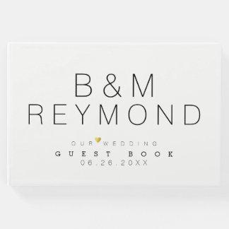 élégant blanc minimaliste moderne livre d'or