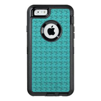 Élégant-Bleu-Floral-Apple-Samsung-Cellule-Coques Coque OtterBox iPhone 6/6s