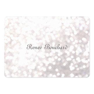 Élégant chic de Bokeh de scintillement blanc doux  Cartes De Visite Personnelles