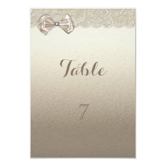 Élégant élégant, dentelle, carte de Tableau d'arc Carton D'invitation 8,89 Cm X 12,70 Cm