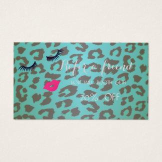 Élégant, mèches, lèvres, carte de référence