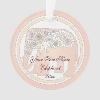 Élégant mignon de rose rose d'éléphant en pastel