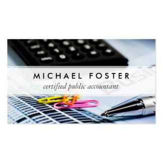 Élégant minimal simple d'expert-comptable carte de visite standard