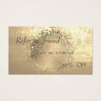 Élégant, or de Faux, carte   de scintillement de