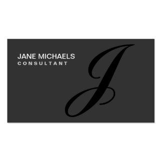 Élégant professionnel de monogramme de décorateur carte de visite standard