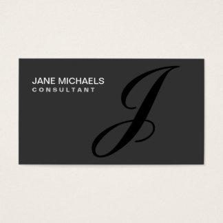 Élégant professionnel de monogramme de décorateur cartes de visite