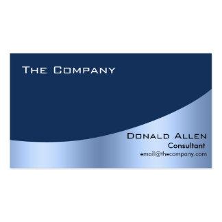 Élégant professionnel en métal en acier bleu carte de visite standard