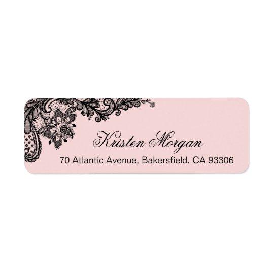 Élégants Girly rougissent rose-clair avec la Étiquette D'adresse Retour