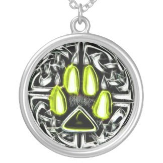 Élément d'amulette de protection de loup-garou pendentif rond