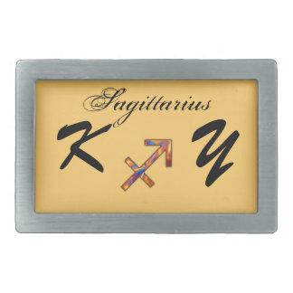 Élément de symbole de zodiaque de Sagittaire par K Boucles De Ceinture Rectangulaires