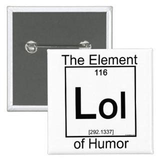 Élément LOL Badge Carré 5 Cm