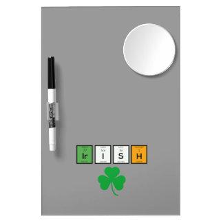 Éléments chimiques irlandais Zc71n Tableaux Effaçables Blancs