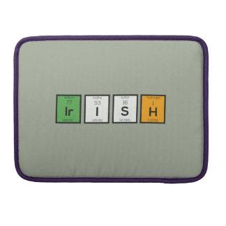 Éléments chimiques irlandais Zy4ra Housse MacBook Pro