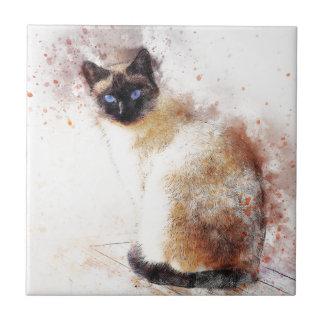 Éléments d'abrégé sur chat siamois petit carreau carré